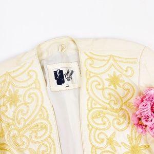 Vintage Venee New York Leather Pearl Jacket